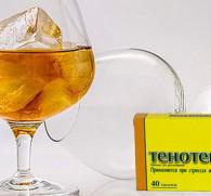 Тенотен и алкоголь: совместимость лекарства со спиртным