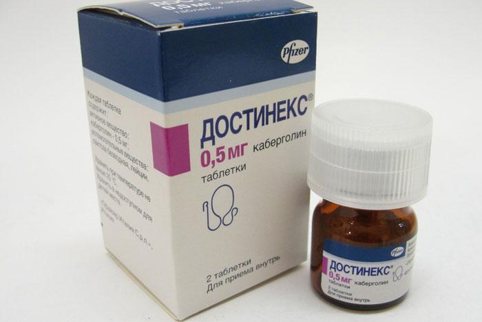 Достинекс - гормональный препарат направленный на снижение активности лактотропных клеток гипофиза