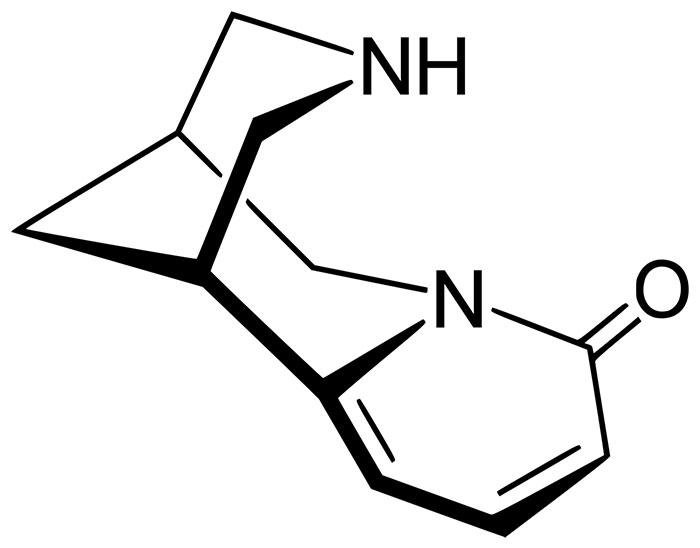 Цитизин - структурная формула действующего вещества препарата Табекс