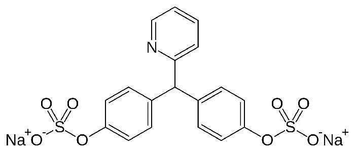 Натрия пикосульфата моногидрат - структурная формула действующего вещества Слабилена