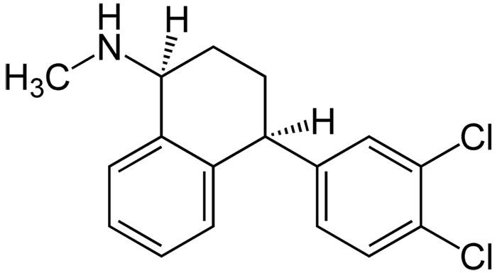 Сертралина гидрохлорид - структурная формула действующего вещества препарата Золофт