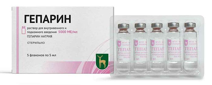 Гепарин относится к препаратам антикоагулянтам и для снижения свёртываемости крови