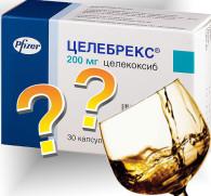 Целебрекс и алкоголь: взаимодействие НПВП препарата и спиртных напитков