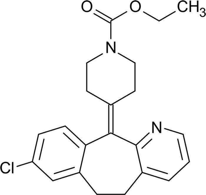 Лоратадин - структурная формула действующего вещества препарата Кларитин