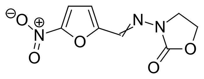 Фуразолидон - структурная формула действующего вещества препарата