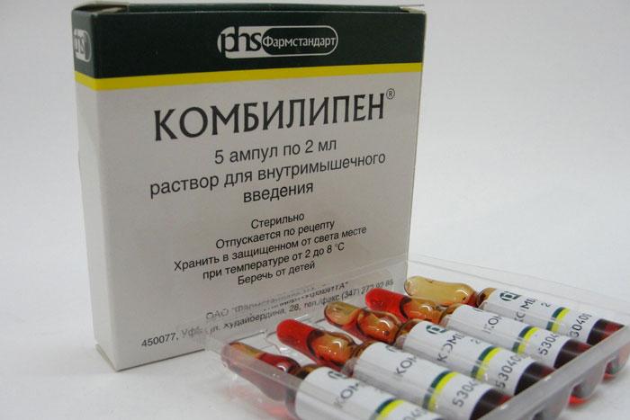 Комбилипен - комплекс витаминов группы B с укрепляющим действием центральной нервной системы