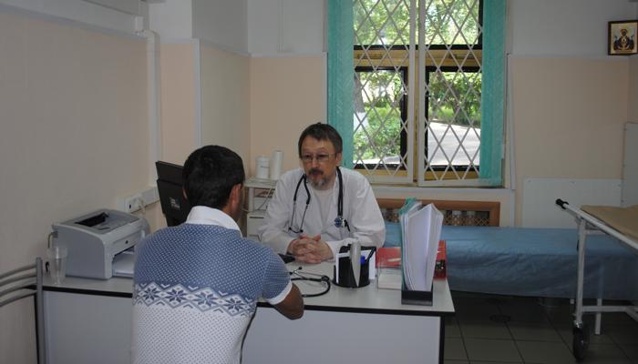 Прием больного в наркологической клинике «Забота» (Москва)