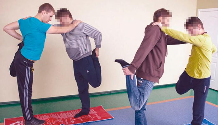 Спортивные занятия постояльцев в реабилитационном центре «Мечта» (Нальчик)