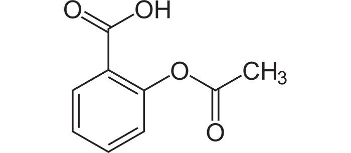 Ацетилсалициловая кислота - структурная формула действующего вещества препарата Тромбо АСС