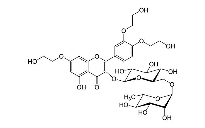Троксерутин - структурная формула действующего вещества препарата Троксевазин