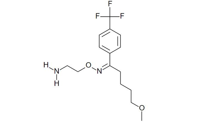 Флувоксамин - структурная формула действующего вещества препарата Феварин