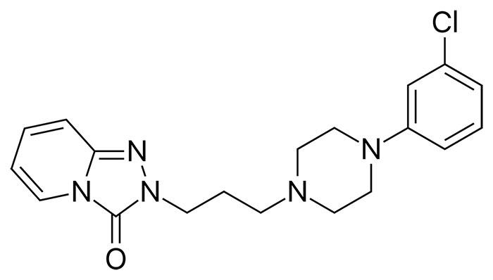 Тразодон - структурная формула действующего вещества препарата Триттико
