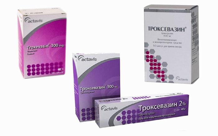 Троксевазин является ангиопротекторным препаратом с противовоспалительным эффектом