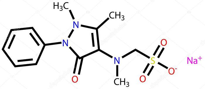 Метамизол натрия - структурная формула действующего вещества препарата Баралгин