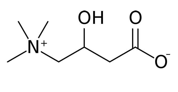 Левокарнитин - структурная формула основного действующего вещества препарата L-carnitine