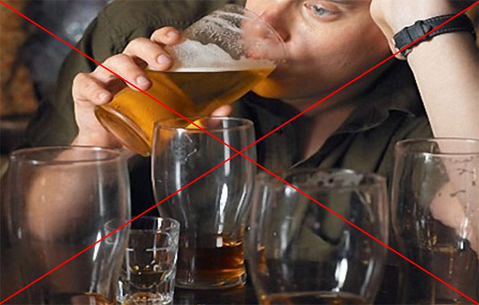 Врачи категорически не рекомендуют совмещать приём Валосердина с алкоголем
