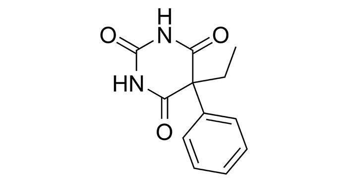 Фенобарбитал - структурная формула основного действующего вещества препарата Валосердин