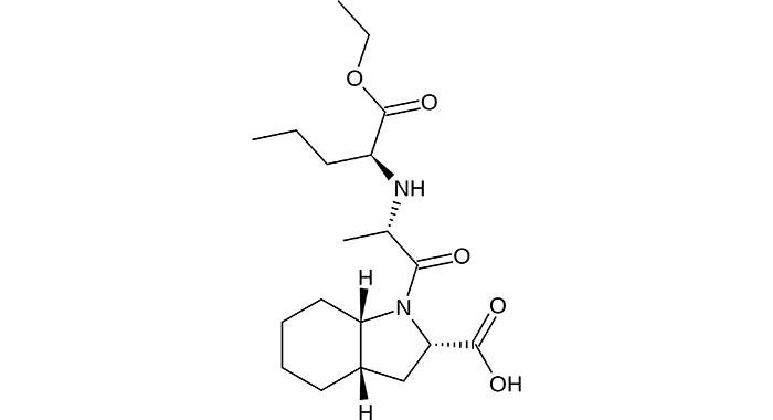 Периндоприл - структурная формула одного из действующих компонентов препарата Нолипрел
