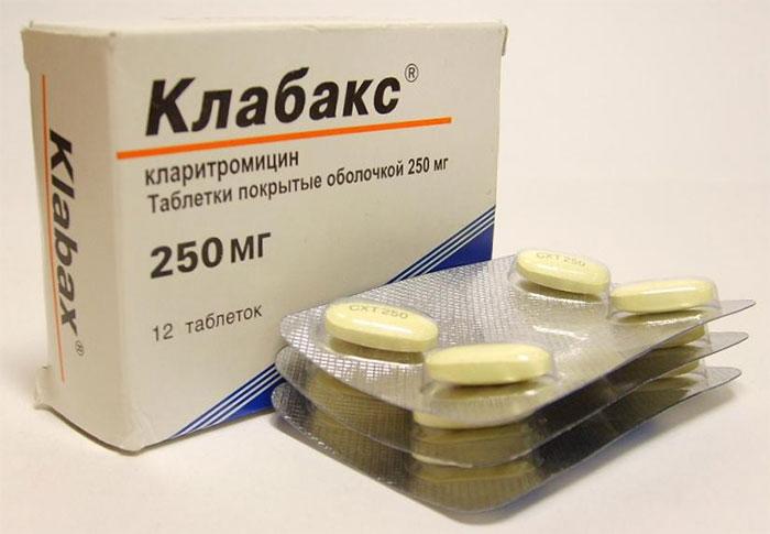 Клабакс является антибиотиком полусинтетического происхождения группы макролидов