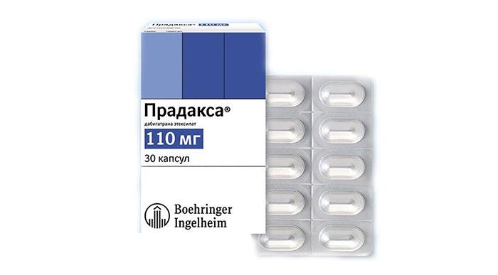 Прадакса является препаратом группы антикоагулянтов с противотромбозным действием