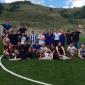 Игра постояльцев в футбол в центре реабилитации «Начало» (Тула)