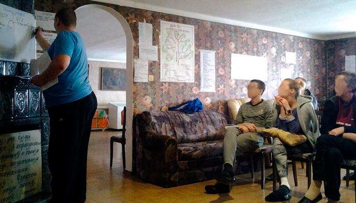 Лекция для постояльцев в центре реабилитации «Начало» (Тула)