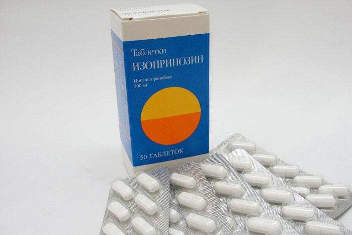 Изопринозин является иммуностимулирующим препаратом, повышающим выработку клеток CD4
