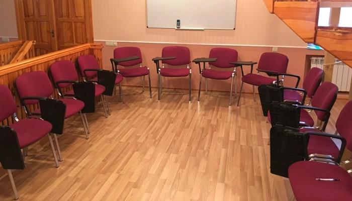Зал для занятий в наркологическом реабилитационном центре «Стимул» (Харьков)