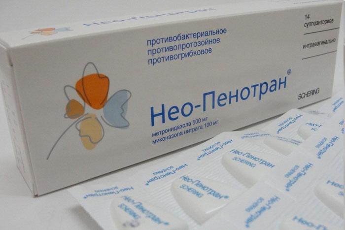 Нео-Пенотран является комбинированным препаратом антибактериального и противогрибкового действия