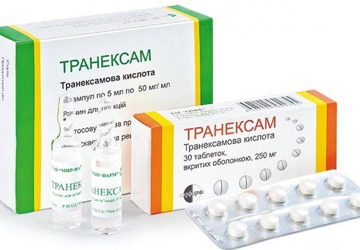 Транеексам является гомеостатическим препаратом, блокирующим активность плазминогена