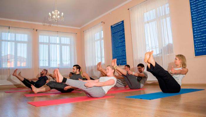 Спортивные занятия постояльцев в реабилитационном центре «Решение» (Нижний Новгород)