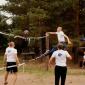 Игра постояльцев в волейбол в реабилитационном центре «Корабли» (Сургут)