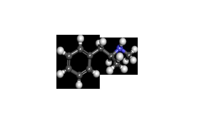 Структурная формула метамфетамина - основного химического элемента наркотического вещества Винт
