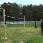 Игра постояльцев в волейбол в реабилитационном наркологическом центре «Путь жизни» (Новосибирск)