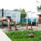 Спортивные занятия постояльцев в реабилитационном центре «Омега-Плюс» (Новосибирск)