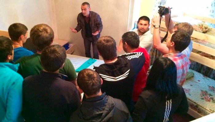 Лекция для постояльцев в реабилитационном центре «Ориентир» (Омск)