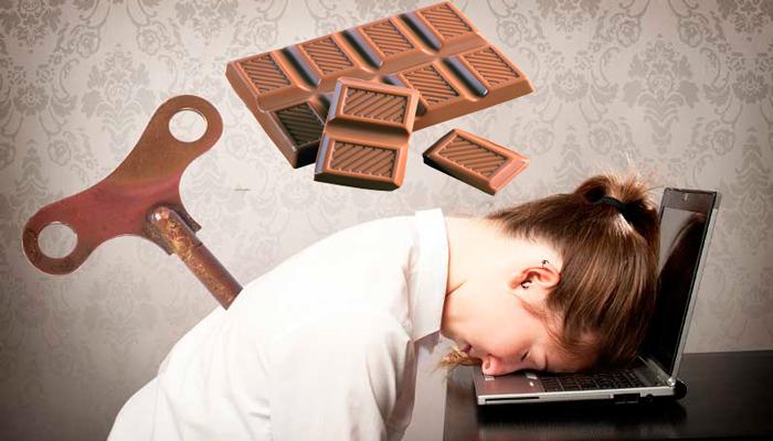 Употребление шоколада с целью получения заряда энергии
