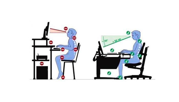 Нарушении осанки у детей из-за длительного провождения времени за компьютером в неправильном положении