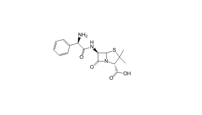 Химическая формула действующего вещества лекарства Ампициллин