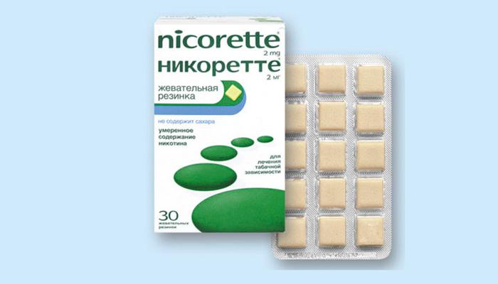 Медицинский никотин в форме жвачек