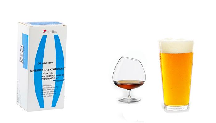 Максимально допустимый объем алкоголя для совместного приема с препаратом Флемоклав солютаб