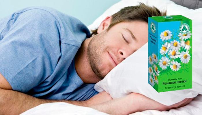 Улучшение сна ромашкой при похмелье