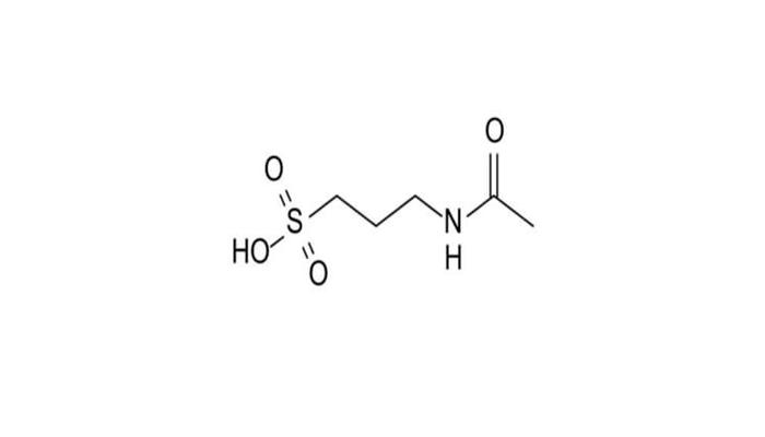 Химическая формула Акампросата - действующего вещества лекарства Кампрал