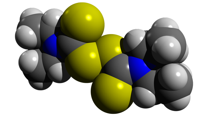 Структурная формула дисульфирама - действующего вещества лекарства Тетлонг-250