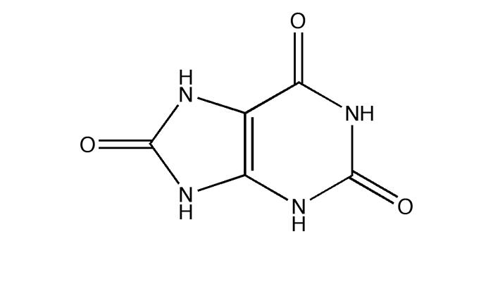 Химическая формула мочевой кислоты, которая откладывается на суставах при подагре