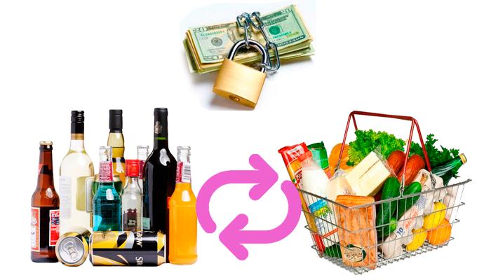 Развитие алкогольной анорексии из-за экономии денег на продуктах питания в пользу алкогольных напитков