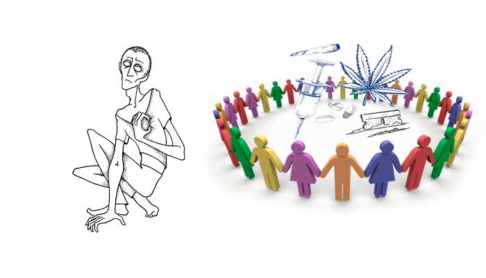 Круг общения наркозависимого