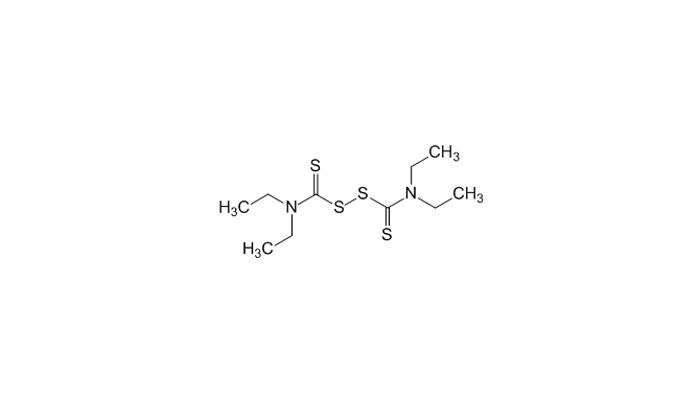 Химическая формула дисульфирама - действующего вещества лекарства СтопЭтил
