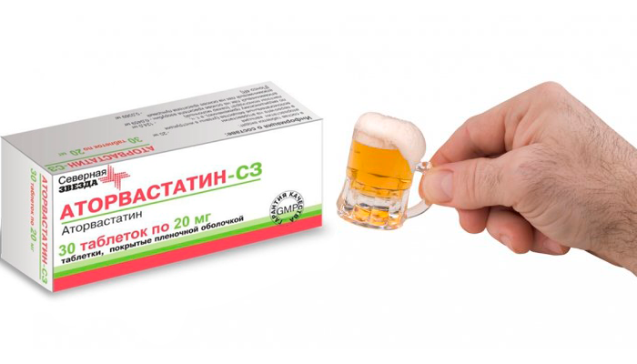 Умеренное употребление алкоголя при лечении препаратом Аторвастатин