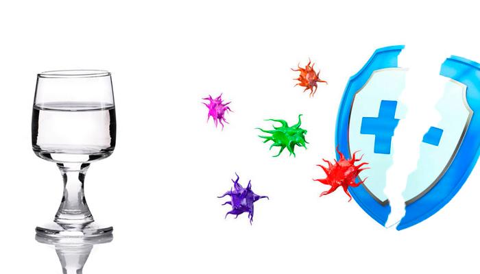 Ослабление иммунитета из-за употребления алкоголя